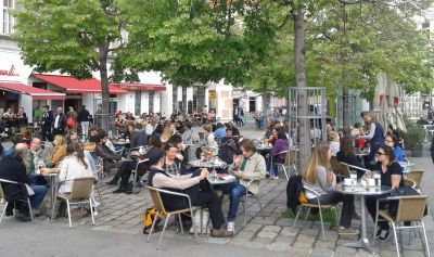 Opuštena atmosfera na Yppenplatzu