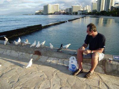 Jutro uz hranjenje golubova i meditaciju na plaži Waikiki