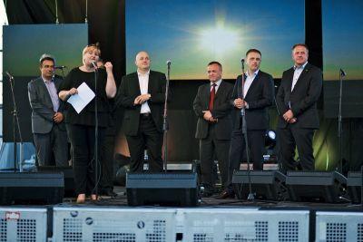 Otvaranje festivala: Ivan Knez, Željko Kraljičak, Ivan Vrkić, Anton Kliman i Zdravko Počivalšek