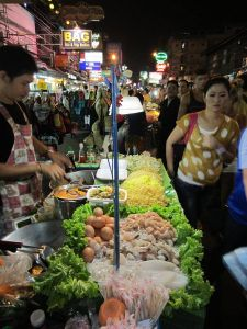 Štand s ponudom pad thaija