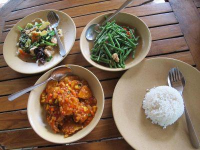Tipični balinežanski ručak