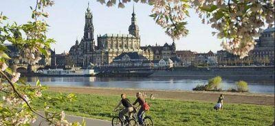 Biciklistička staza uz Labu u Dresdenu