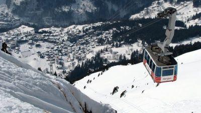 Wengen: Spektakularni pogled sa staza