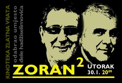 Najavni plakat za program dva Zorana
