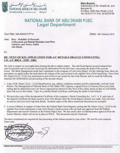Odgovor banke s uputama