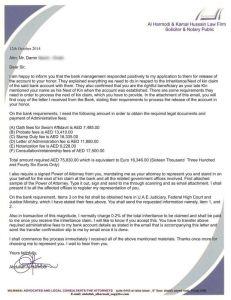 Pismo tobožnjeg odvjetničkog ureda