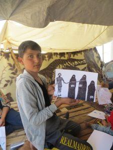 Dječak je nacrtao Jezidkinja koje islamisti prodaju u roblje